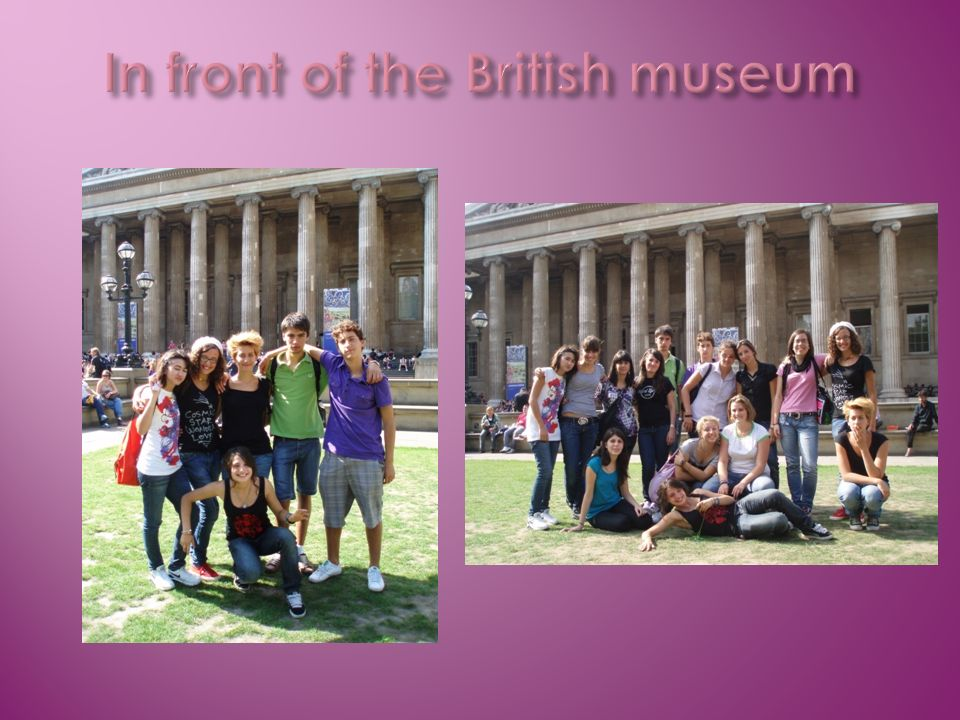 In front of the British museum
