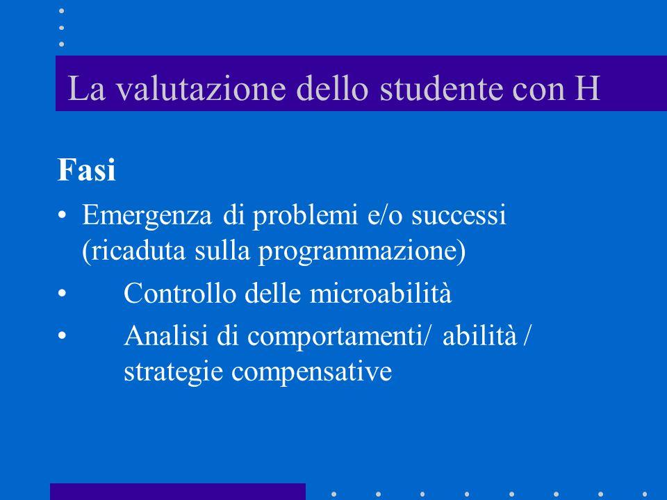 La valutazione dello studente con H