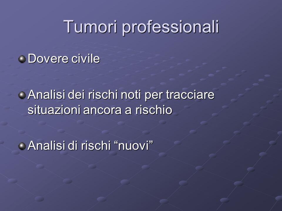 Tumori professionali Dovere civile