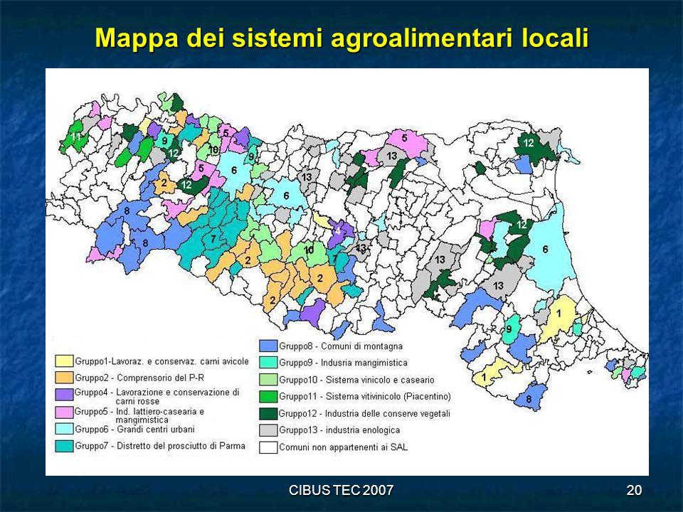 Mappa dei sistemi agroalimentari locali