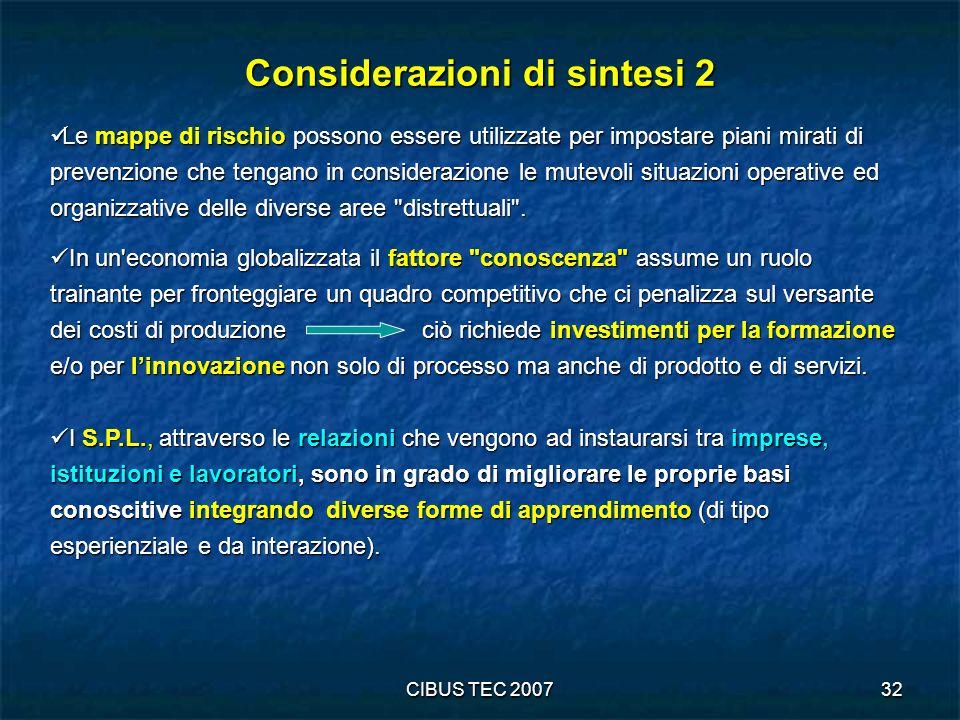 Considerazioni di sintesi 2