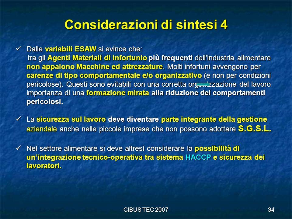 Considerazioni di sintesi 4