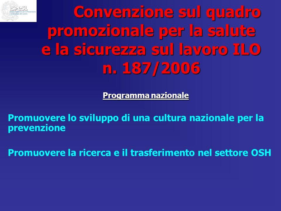 Convenzione sul quadro promozionale per la salute e la sicurezza sul lavoro ILO n. 187/2006