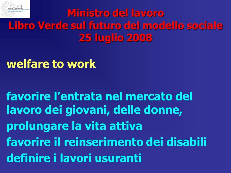 favorire l'entrata nel mercato del lavoro dei giovani, delle donne,