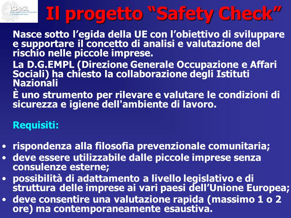 Il progetto Safety Check