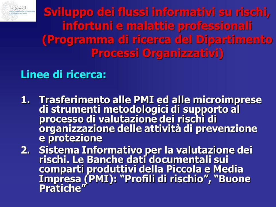 Sviluppo dei flussi informativi su rischi, infortuni e malattie professionali (Programma di ricerca del Dipartimento Processi Organizzativi)