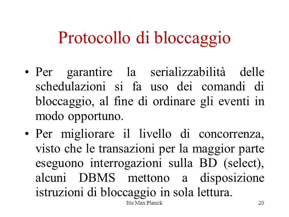 Protocollo di bloccaggio