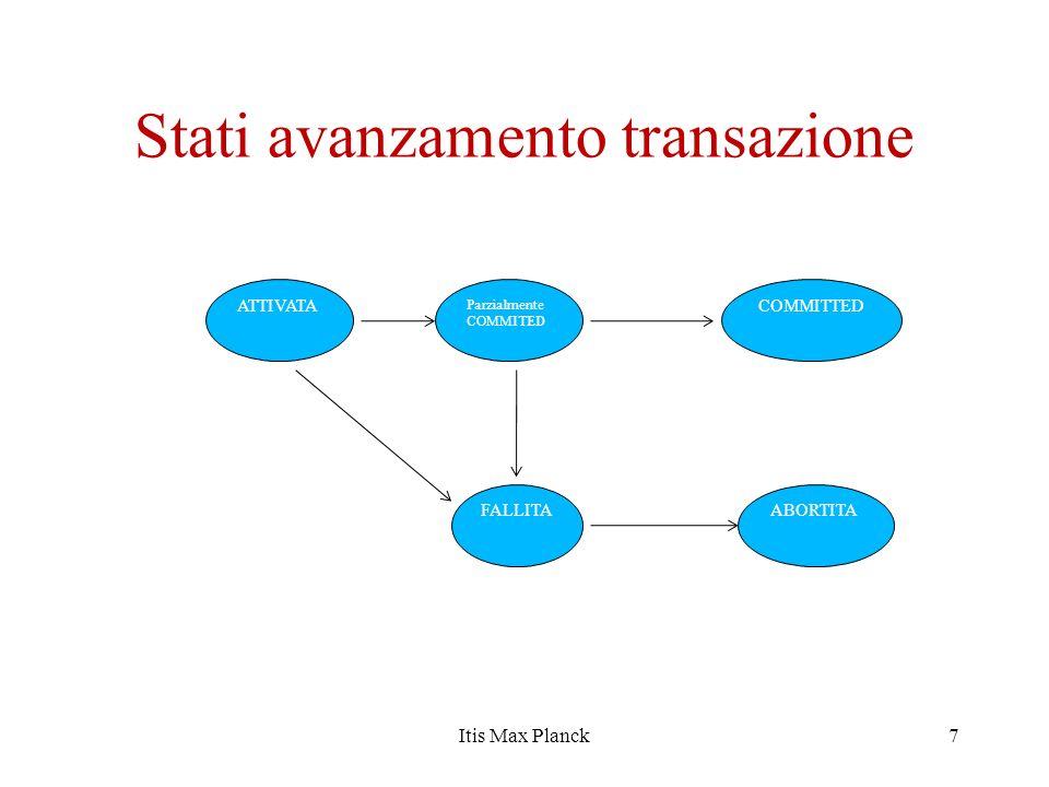 Stati avanzamento transazione