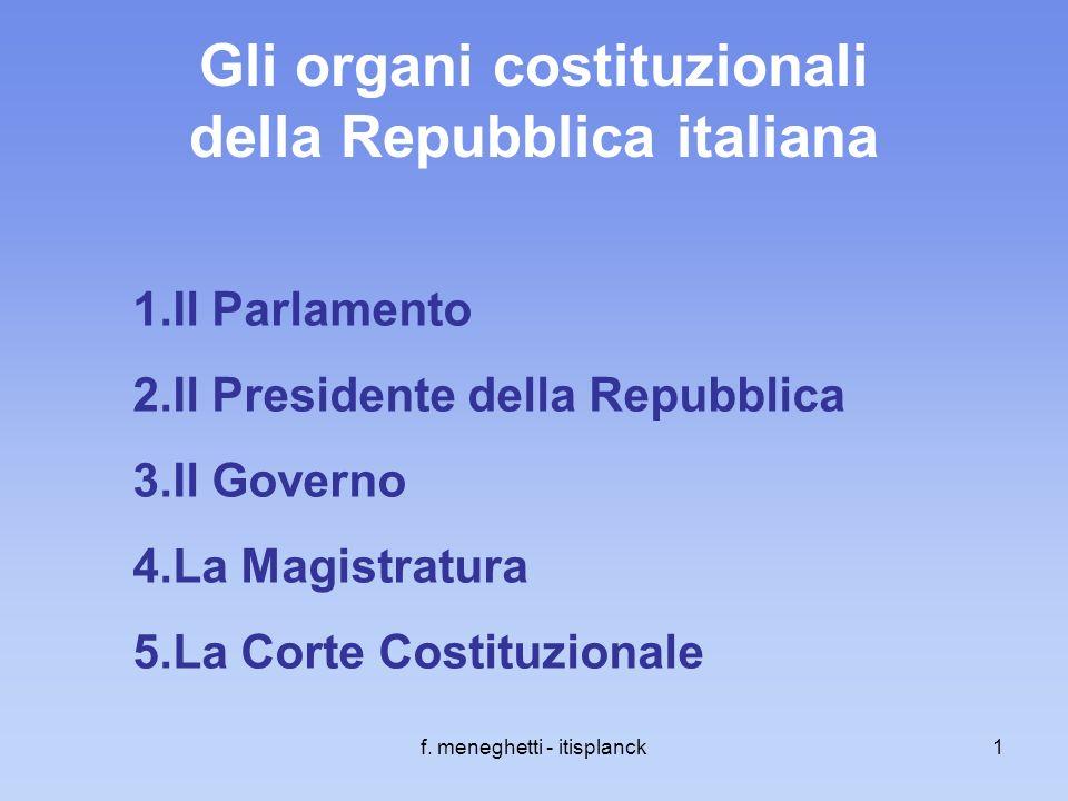 Gli organi costituzionali della Repubblica italiana