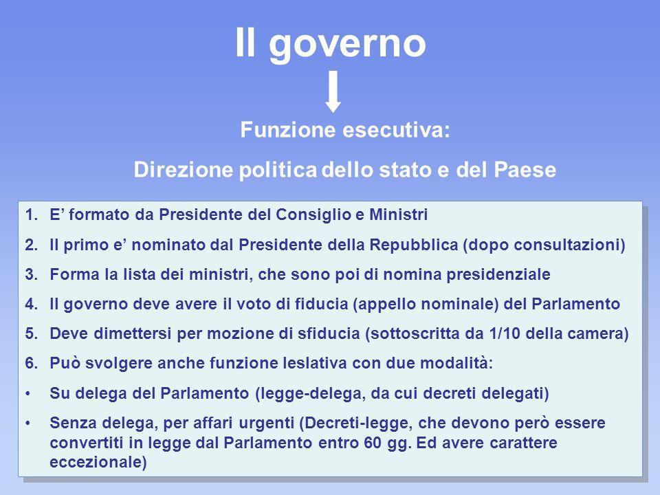 Direzione politica dello stato e del Paese