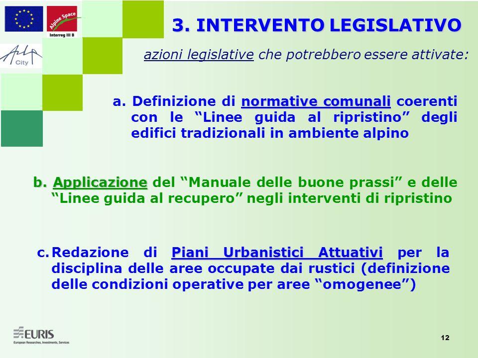 3. INTERVENTO LEGISLATIVO