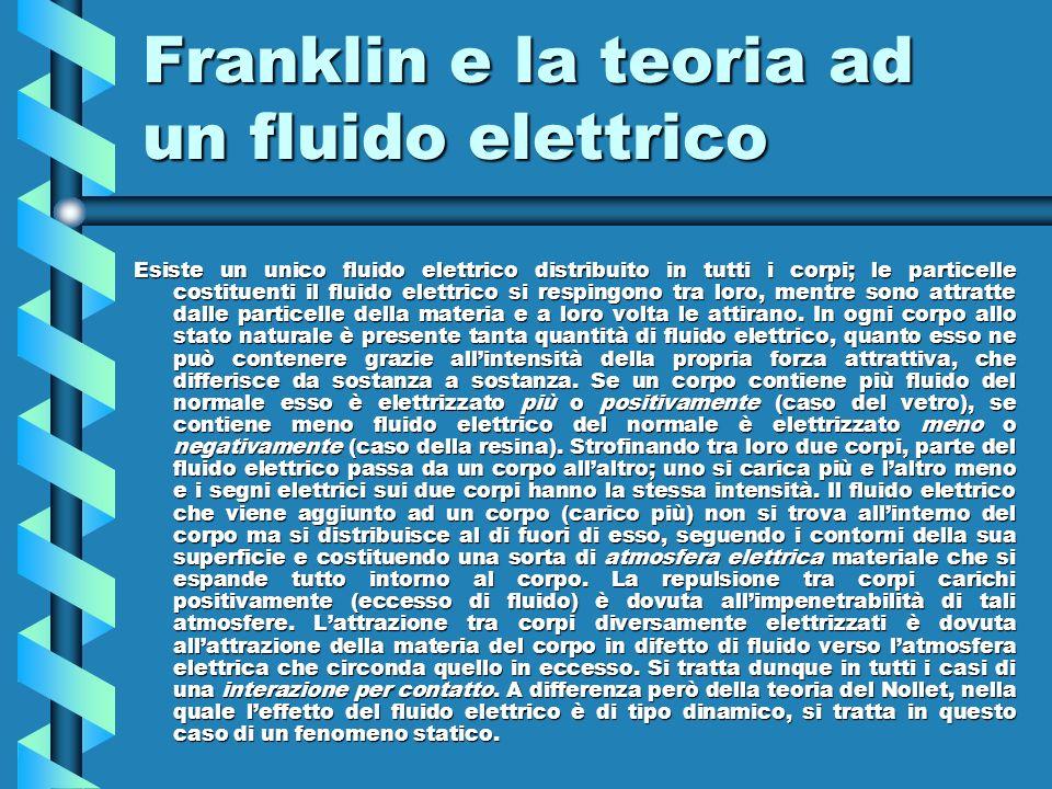 Franklin e la teoria ad un fluido elettrico
