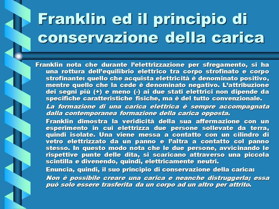 Franklin ed il principio di conservazione della carica