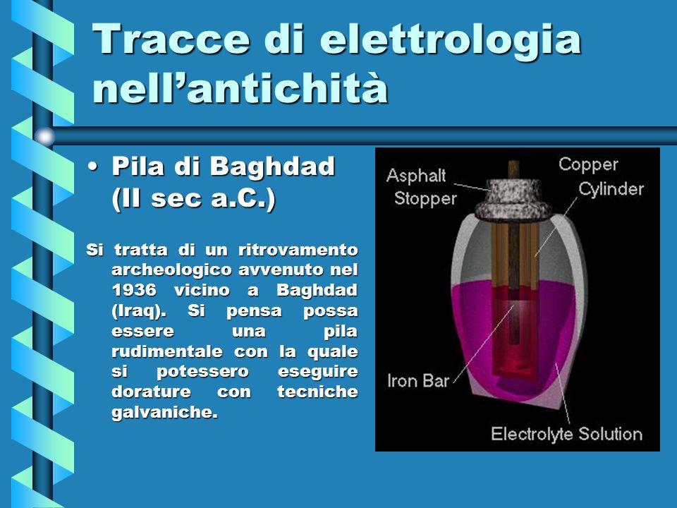 Tracce di elettrologia nell'antichità