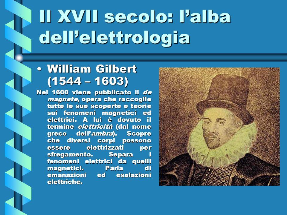 Il XVII secolo: l'alba dell'elettrologia