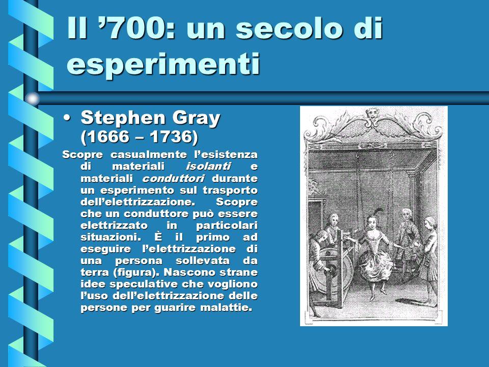 Il '700: un secolo di esperimenti