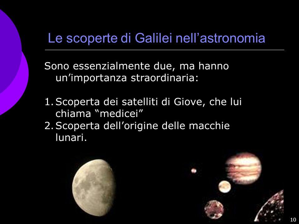 Le scoperte di Galilei nell'astronomia