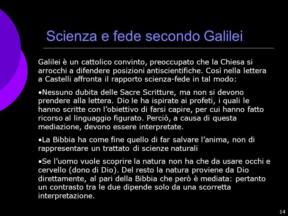 Scienza e fede secondo Galilei