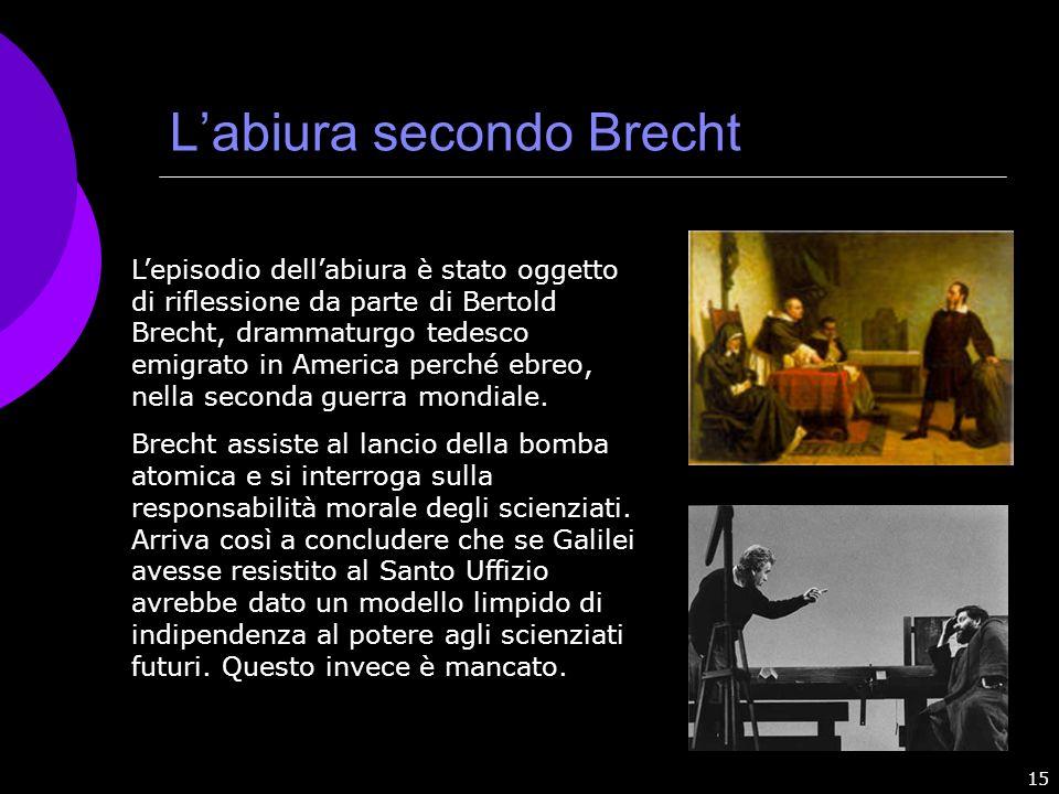 L'abiura secondo Brecht