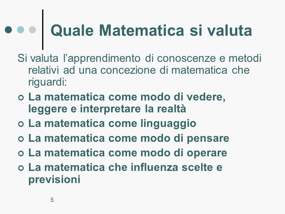 Quale Matematica si valuta