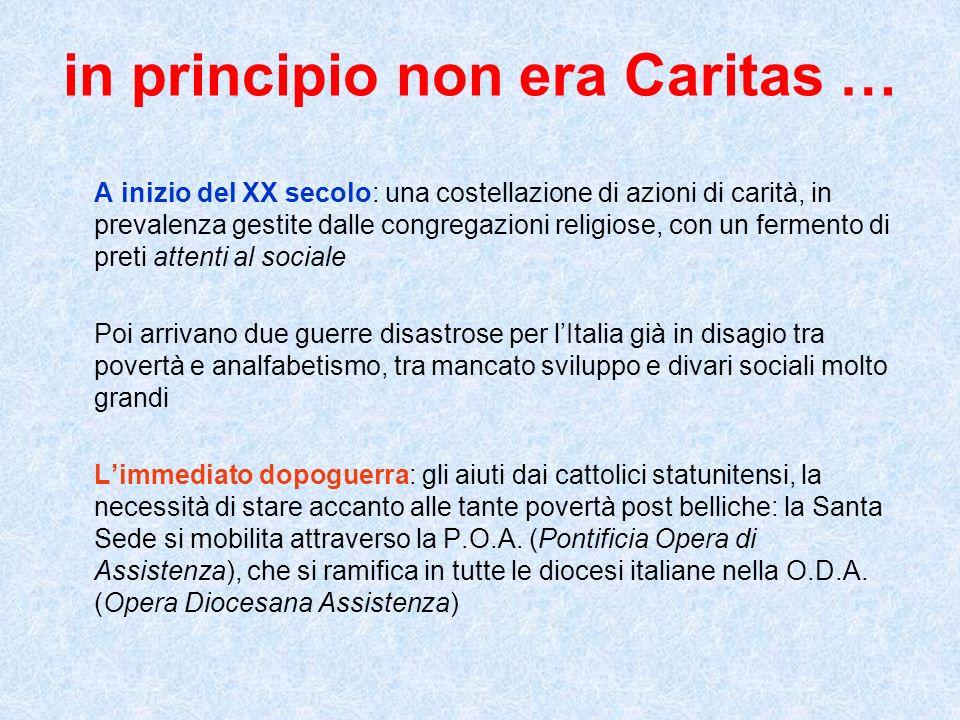 in principio non era Caritas …