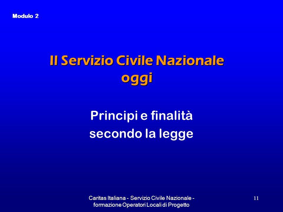 Il Servizio Civile Nazionale oggi
