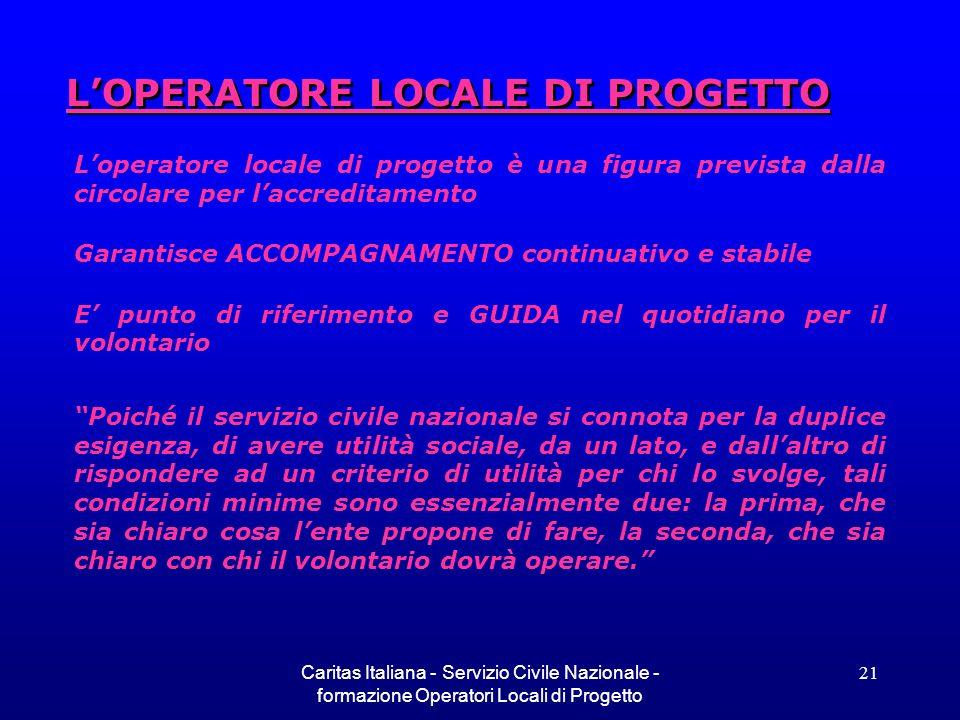 L'OPERATORE LOCALE DI PROGETTO