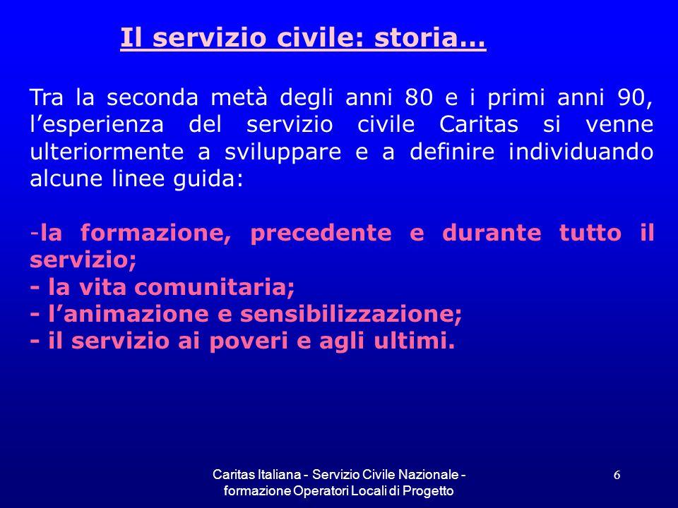 Il servizio civile: storia…