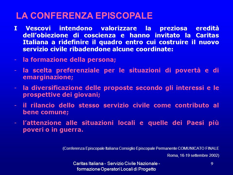 LA CONFERENZA EPISCOPALE