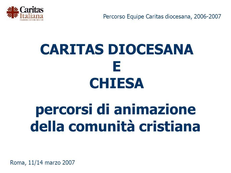 CARITAS DIOCESANA E CHIESA
