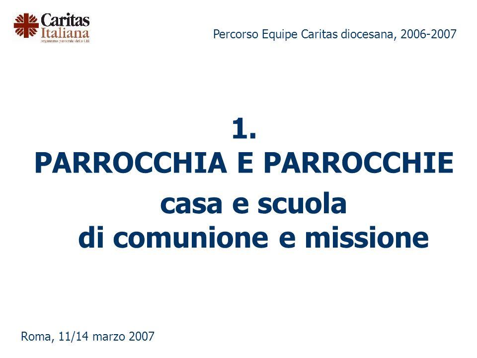 1. PARROCCHIA E PARROCCHIE