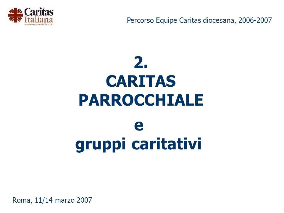 2. CARITAS PARROCCHIALE e gruppi caritativi
