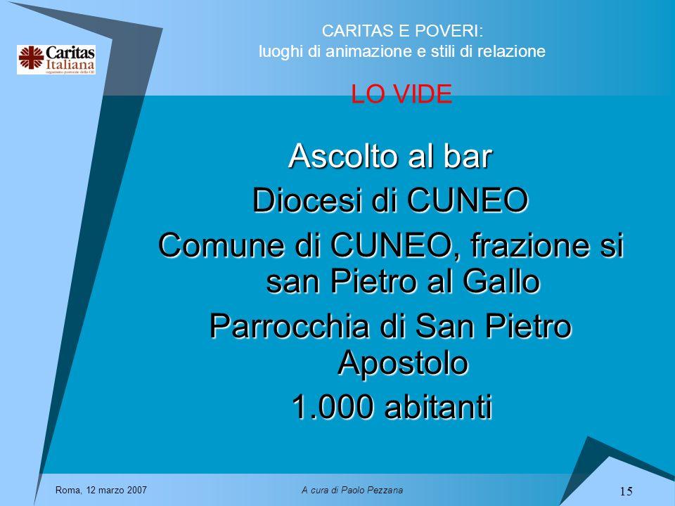 Comune di CUNEO, frazione si san Pietro al Gallo