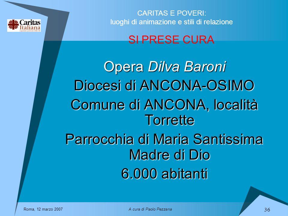 Diocesi di ANCONA-OSIMO Comune di ANCONA, località Torrette