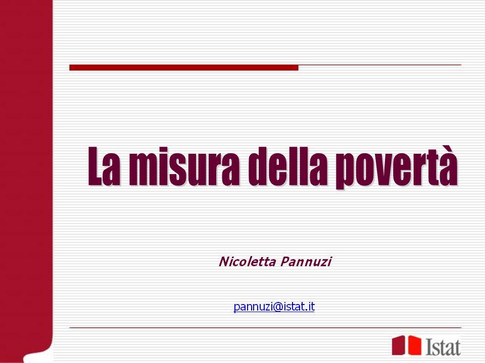 La misura della povertà