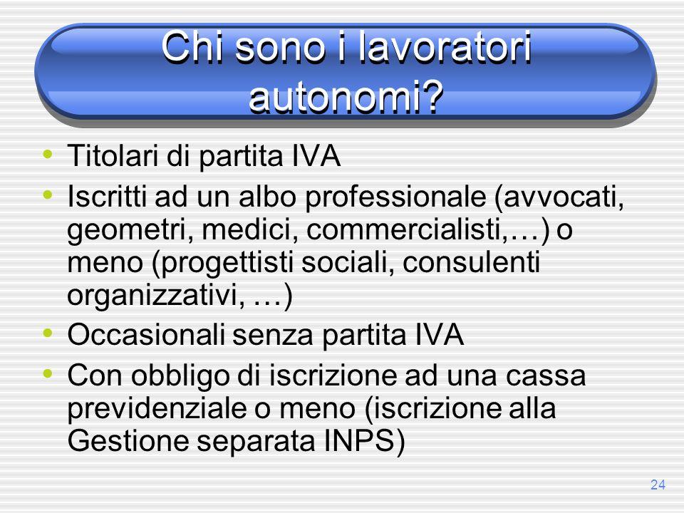 Chi sono i lavoratori autonomi