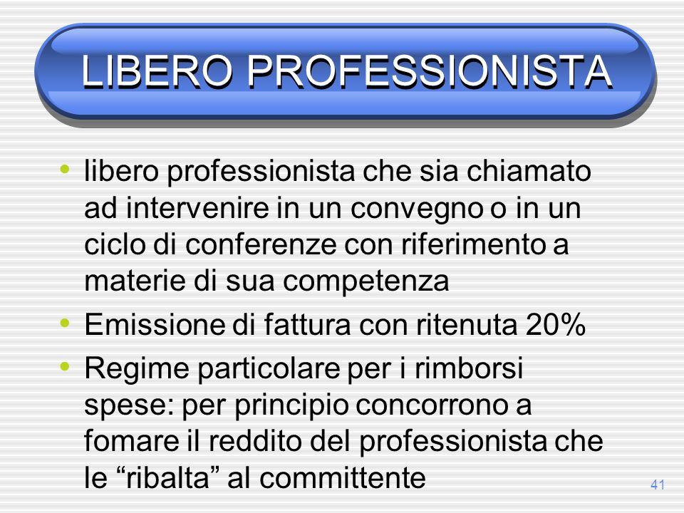 LIBERO PROFESSIONISTA