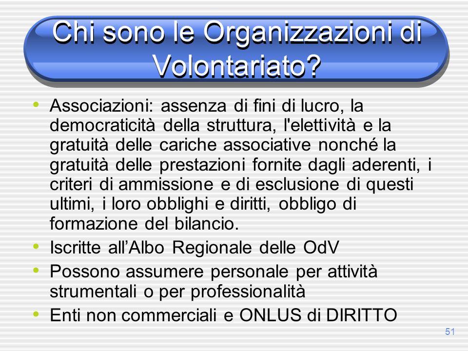 Chi sono le Organizzazioni di Volontariato