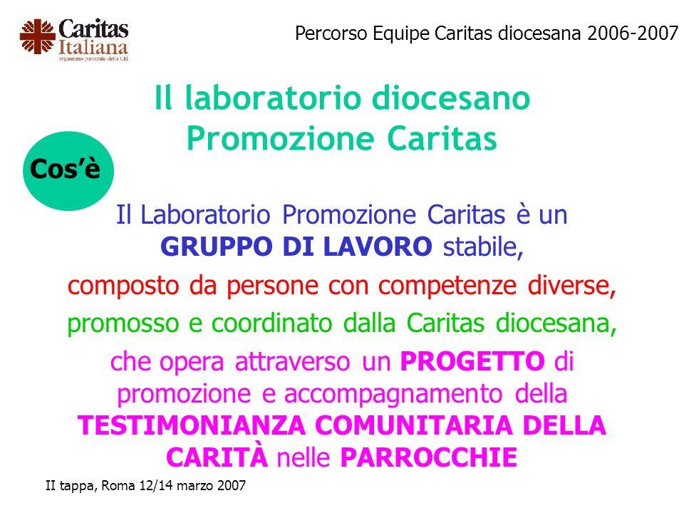 Il laboratorio diocesano Promozione Caritas