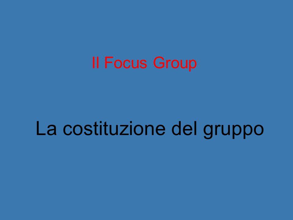 La costituzione del gruppo