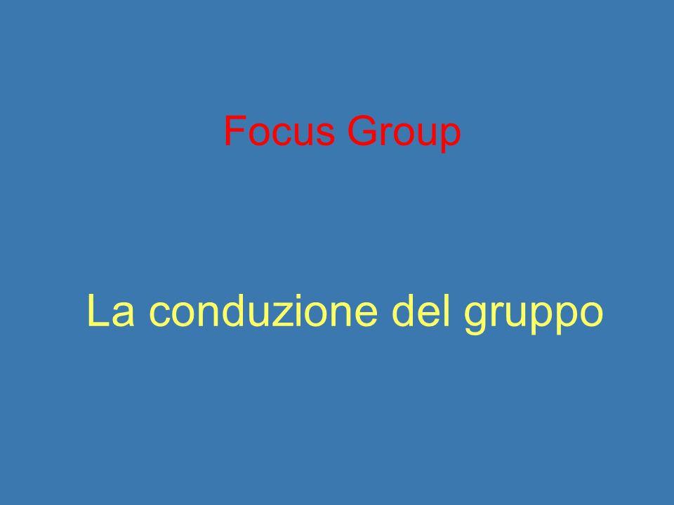 La conduzione del gruppo