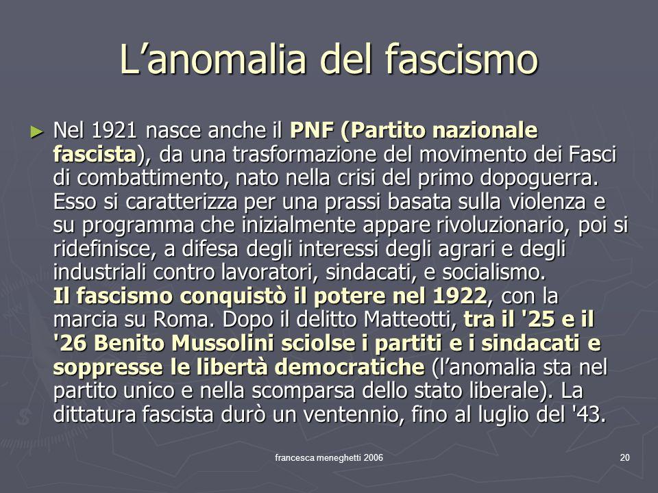L'anomalia del fascismo