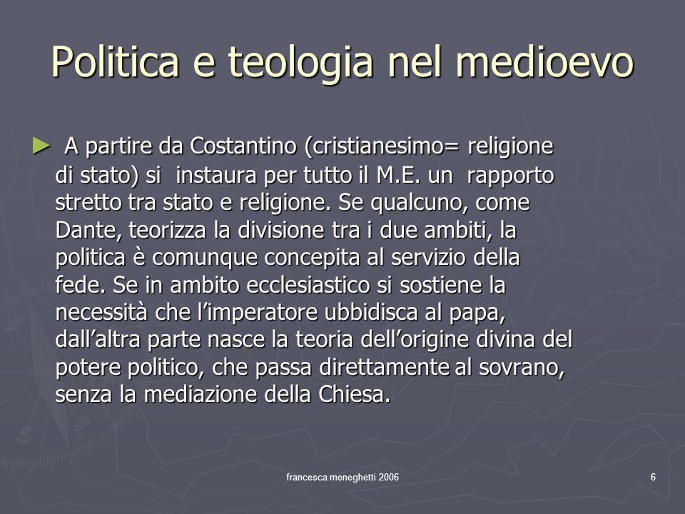 Politica e teologia nel medioevo