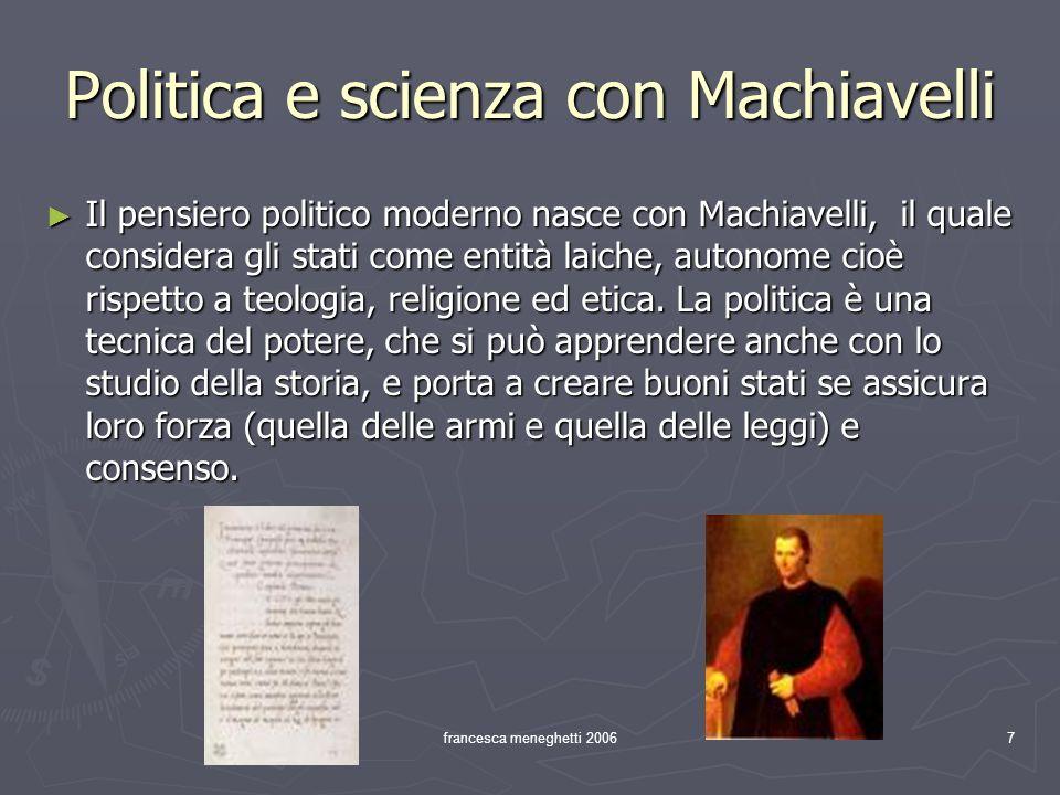 Politica e scienza con Machiavelli