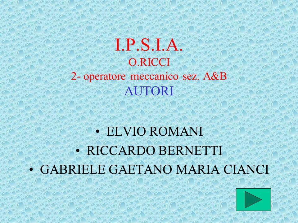 I.P.S.I.A. O.RICCI 2- operatore meccanico sez. A&B AUTORI