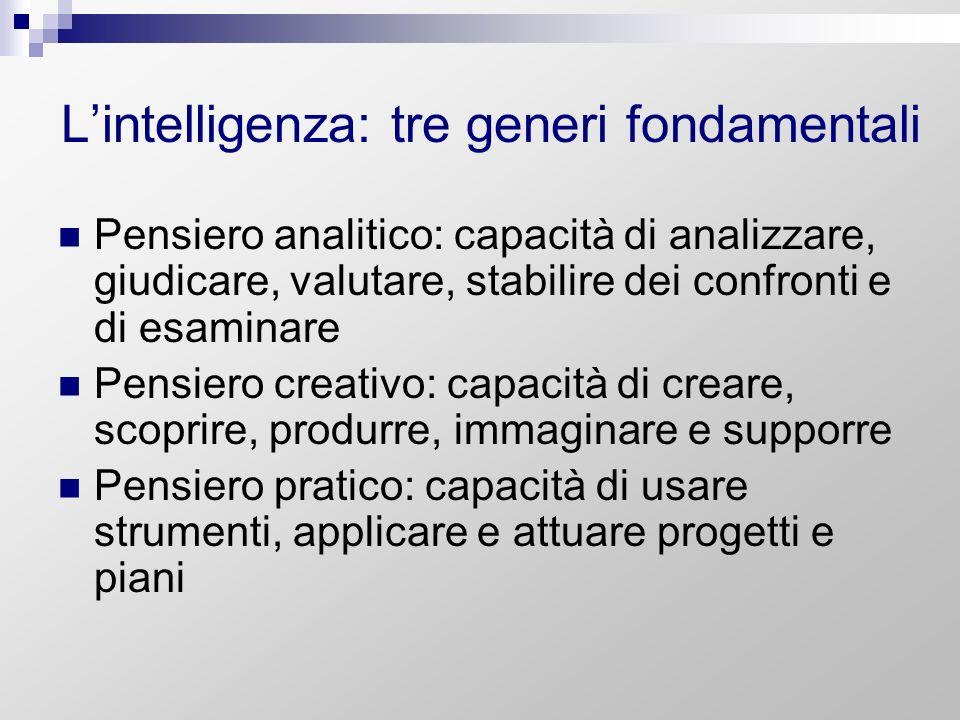 L'intelligenza: tre generi fondamentali
