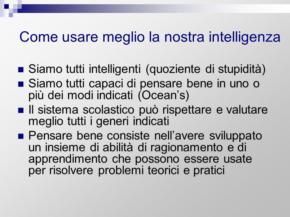 Come usare meglio la nostra intelligenza