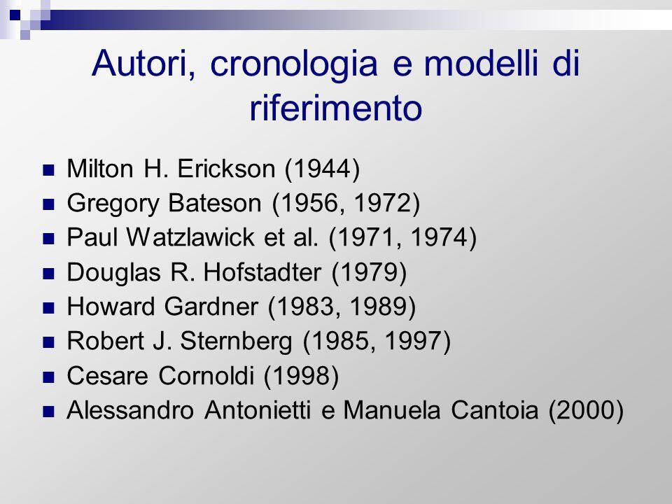 Autori, cronologia e modelli di riferimento