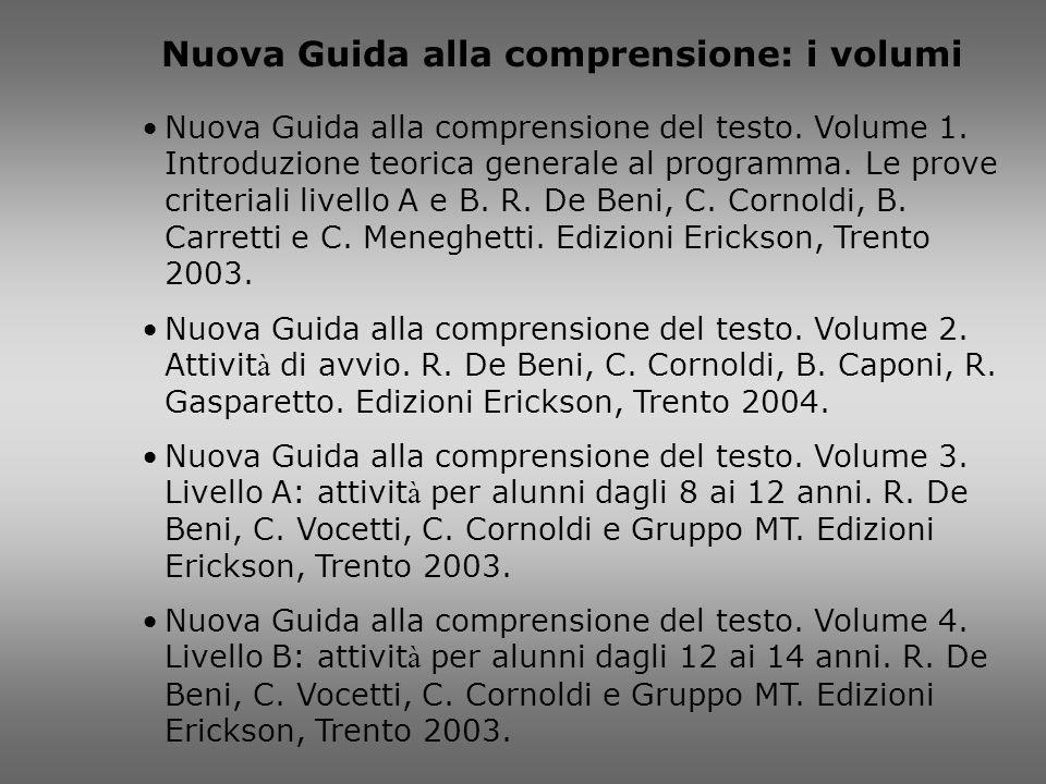Nuova Guida alla comprensione: i volumi