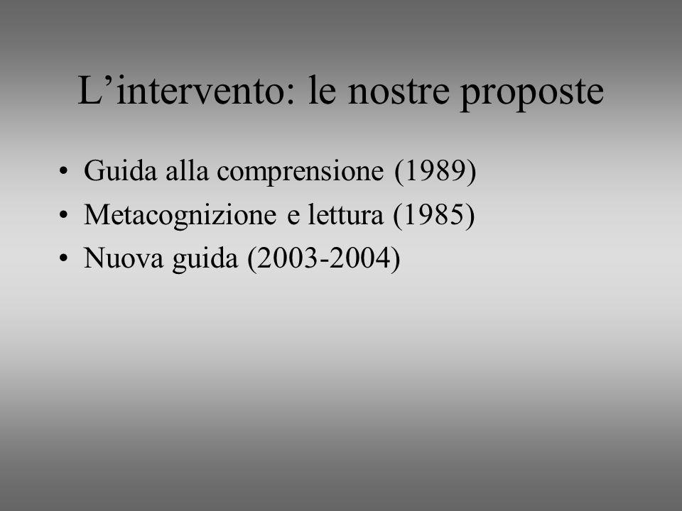 L'intervento: le nostre proposte